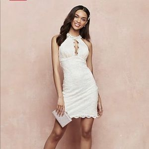 Ivory halter dress. Great for a casual bride